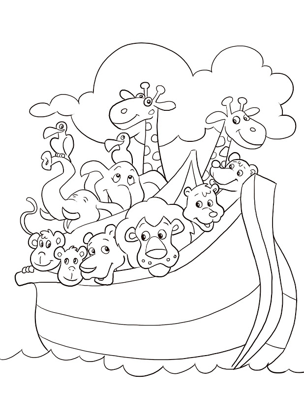 Noah and the ark coloring pages az coloring pages for Ark coloring page