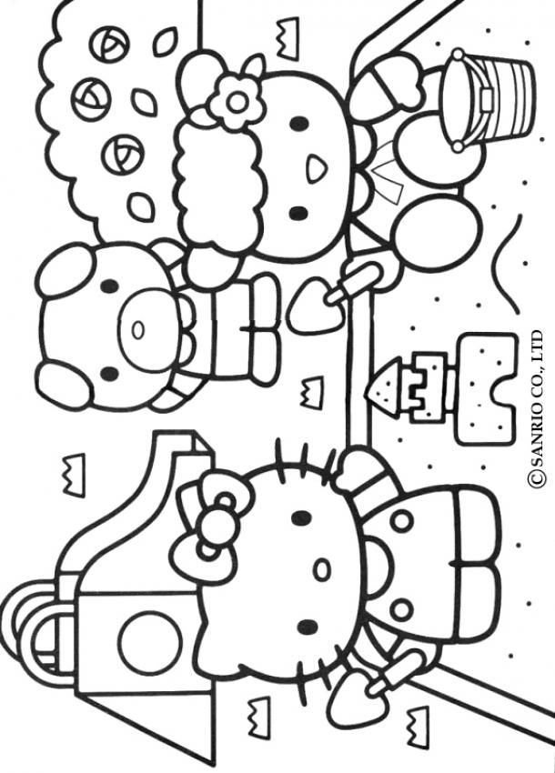 hello kity and friends Colouring Pages (page 3)