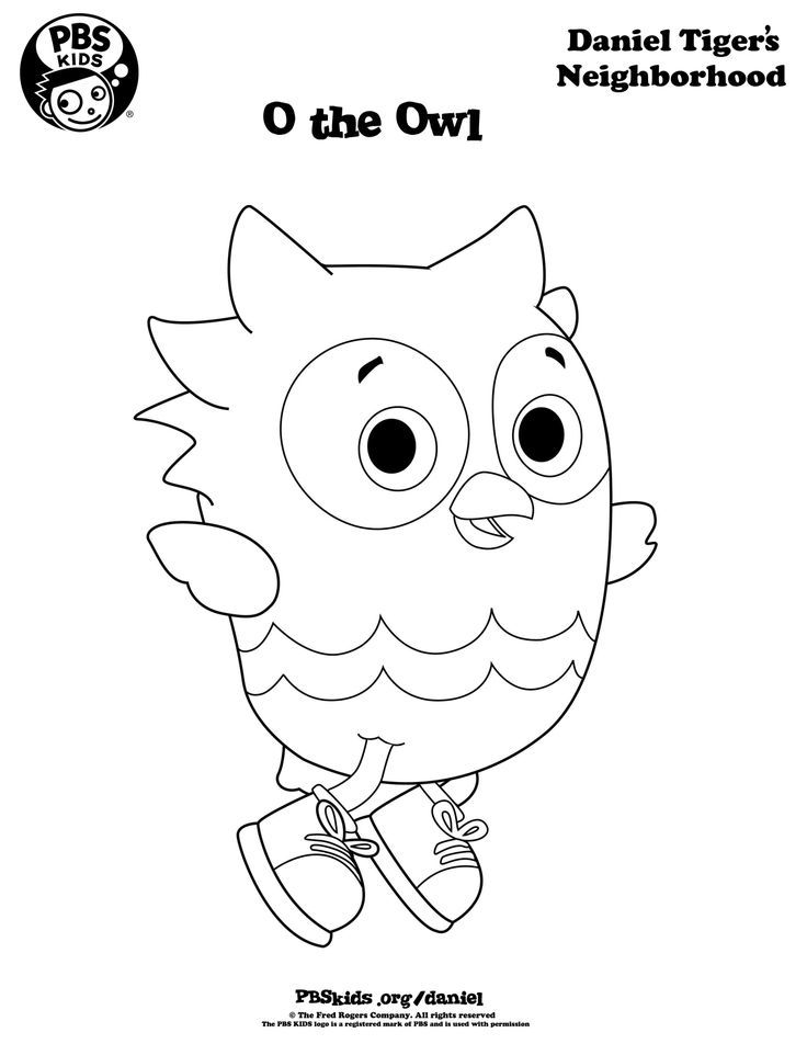 Daniel Tiger Coloring Page - Coloring Home
