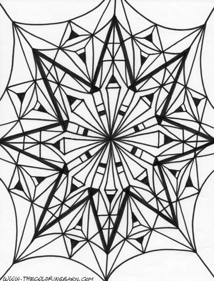 kaleidoscope designs free coloring pages - photo#29