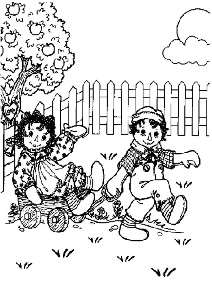 - Raggedy Ann And Raggedy Andy - Coloring Home