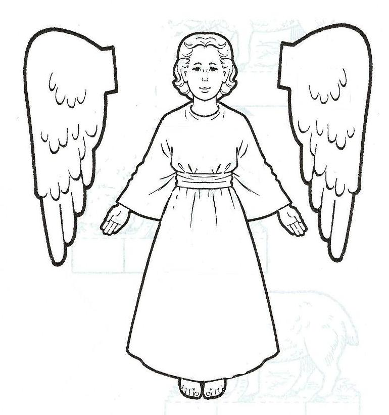 Coloring Pages Angel  Coloring Home