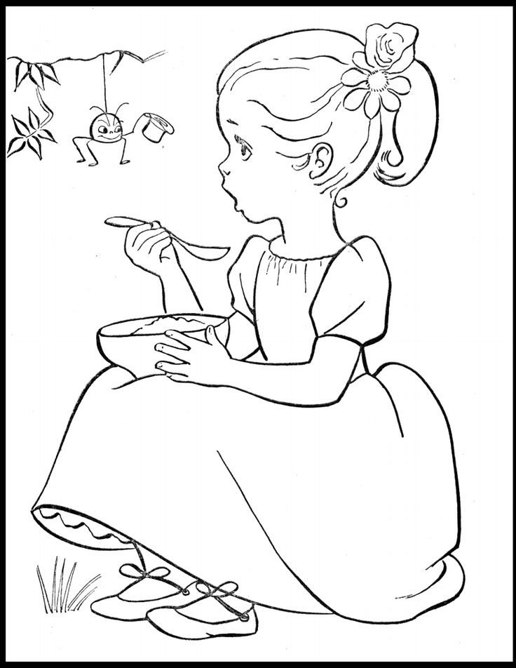 Little Miss Muffet Coloring Pages Coloring Home Miss Colouring Pages