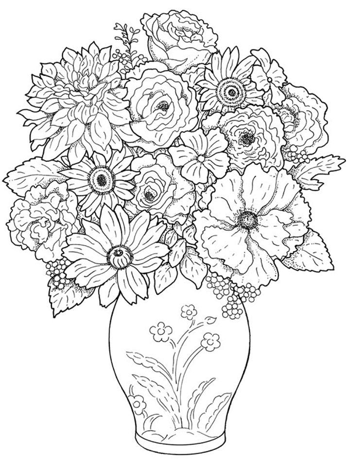 Realistic Flower Az Coloring Pages Realistic Flower Coloring Pages