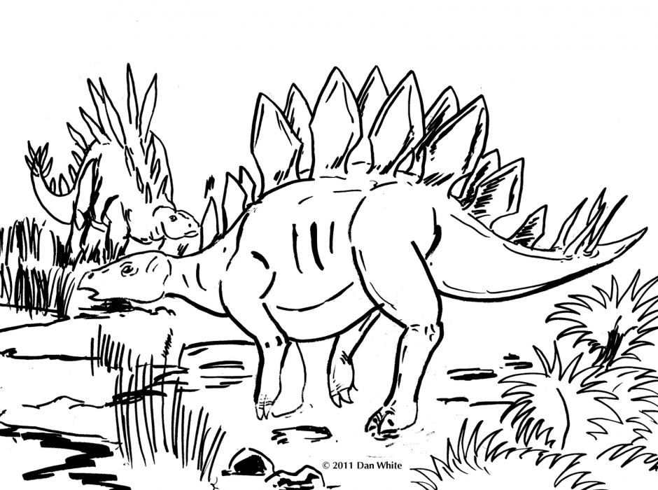 Stegosaurus Coloring Page Coloring Home