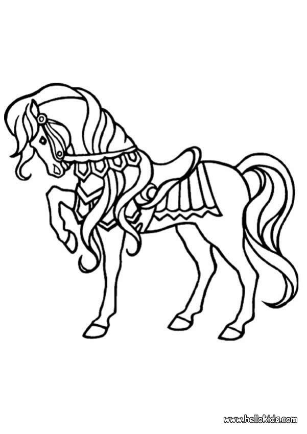 horses jumping coloring pages - photo#34