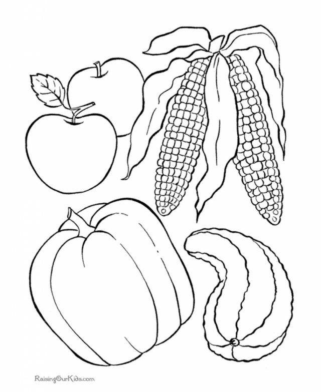 advanced coloring pages thanksgiving food - photo#12