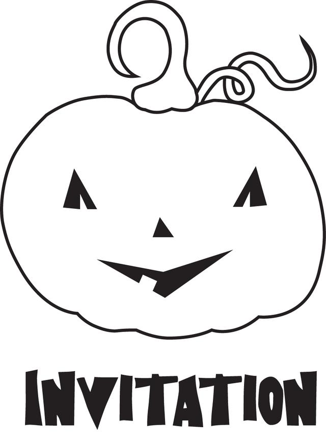 Jack O Lantern Outline - AZ Coloring Pages