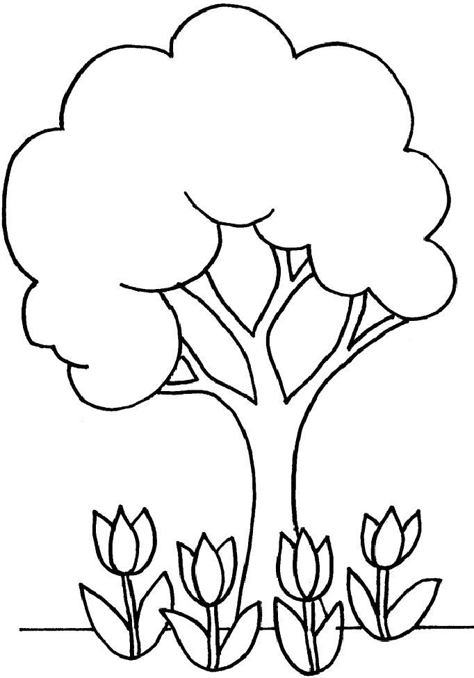 Tree Coloring Pages Kids Az Coloring Pages Tree Coloring Page For Toddlers