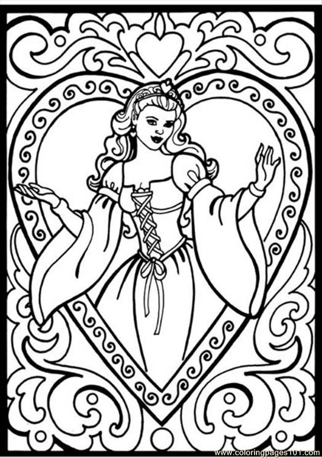 Princess coloring pages to print coloring home for Princess printable color pages