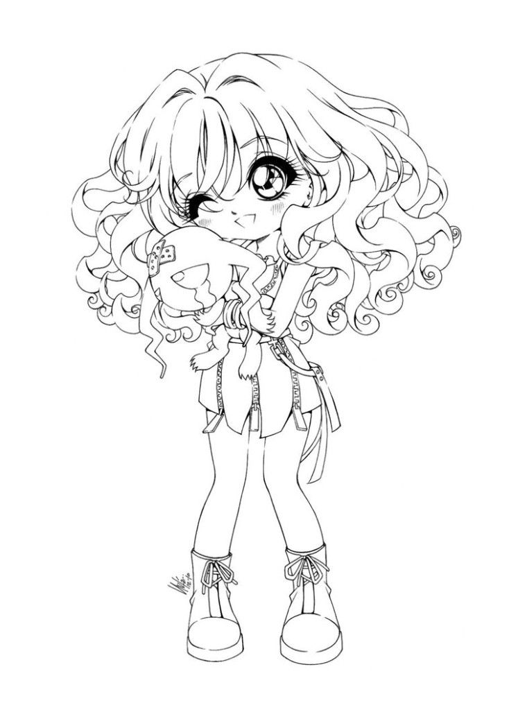 Cute Anime Coloring Pages - Coloring Home