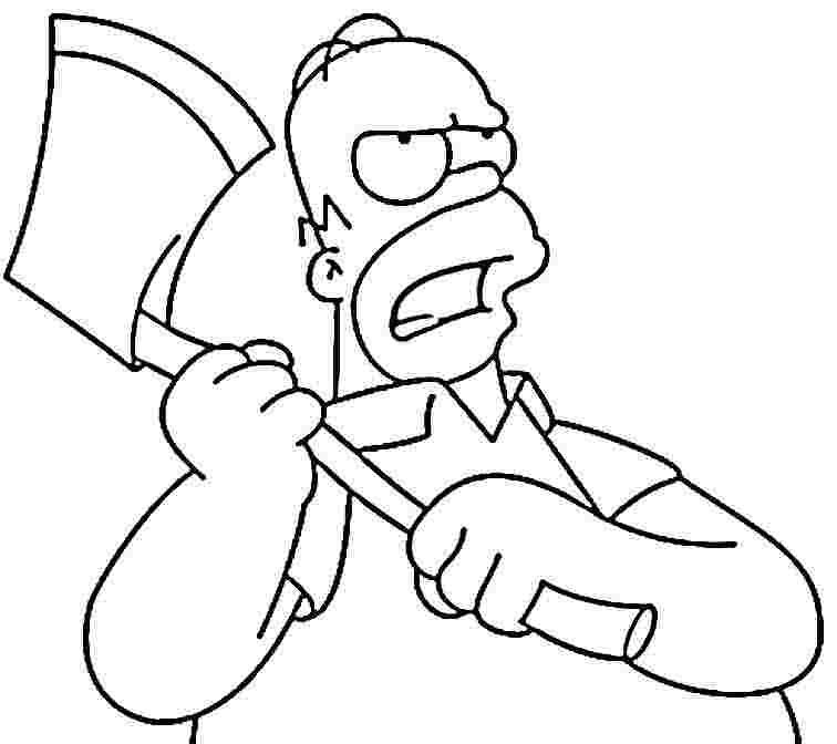 homer simpson halloween coloring pages - photo#1