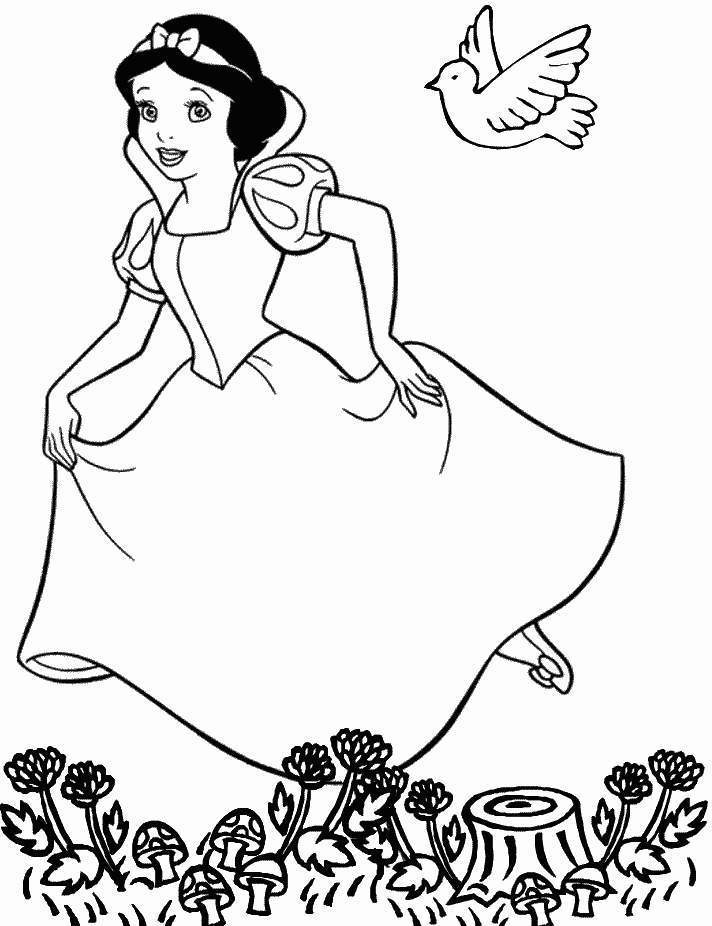 Coloring pages snow az coloring pages for Free snow white coloring pages