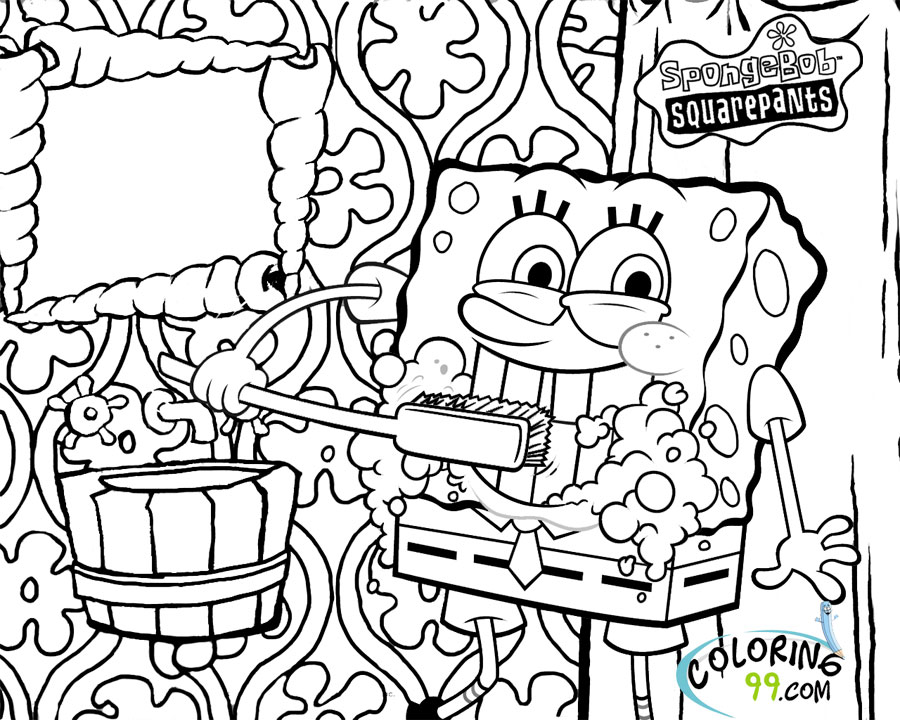 spongebob fun coloring pages - photo#23