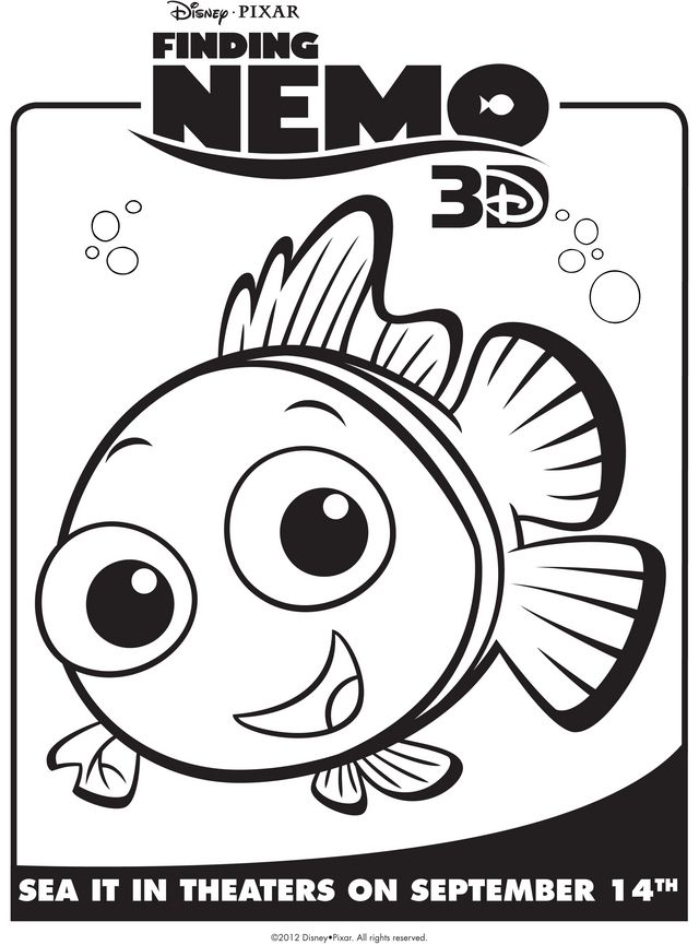 free disney nemo coloring pages - photo#50