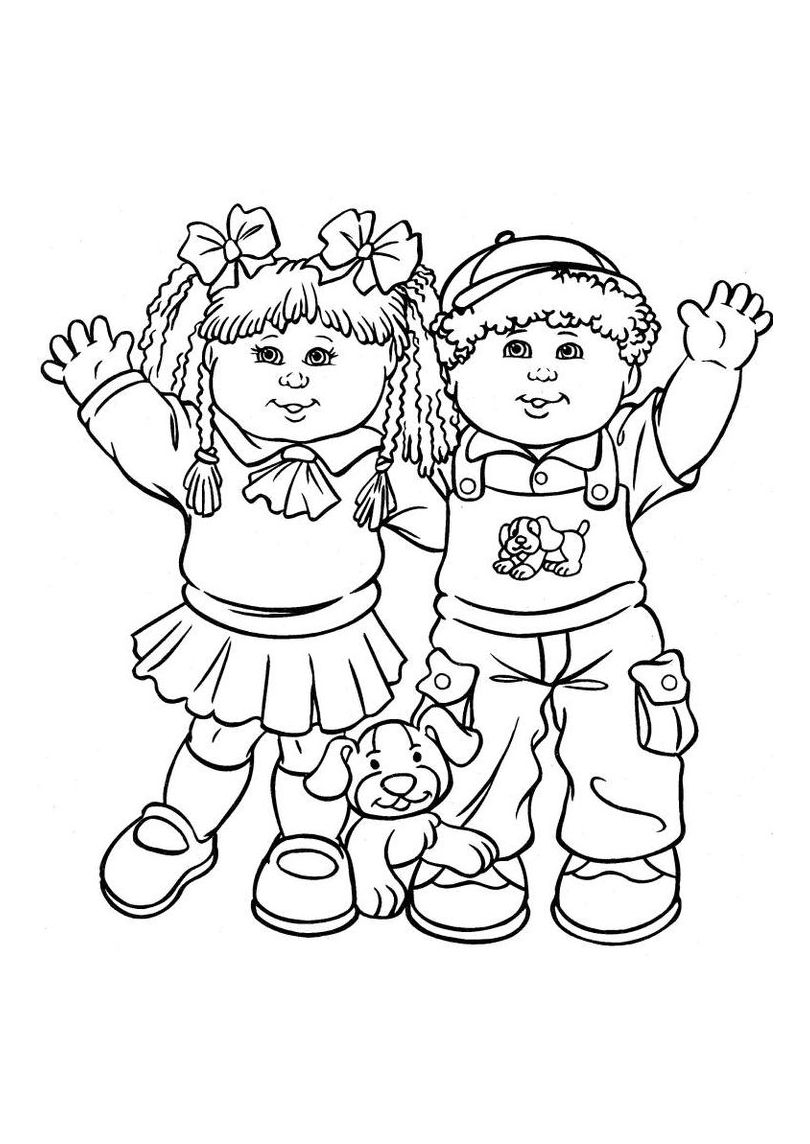 cabbage patch coloring pages - photo#3