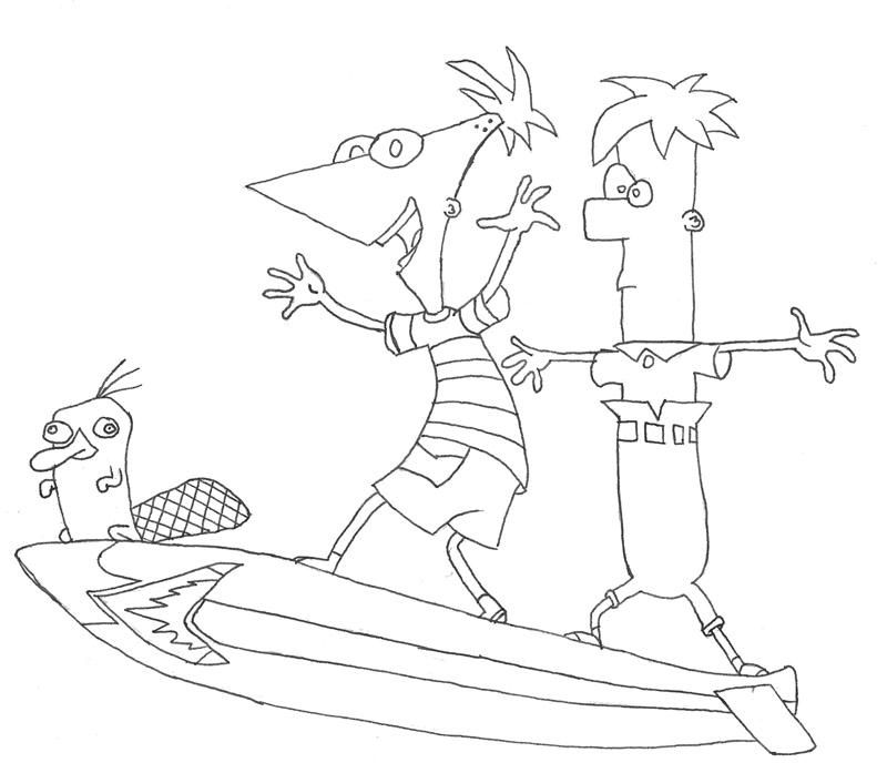 Phineas And Ferb Coloring Pages To Print - Coloring Home