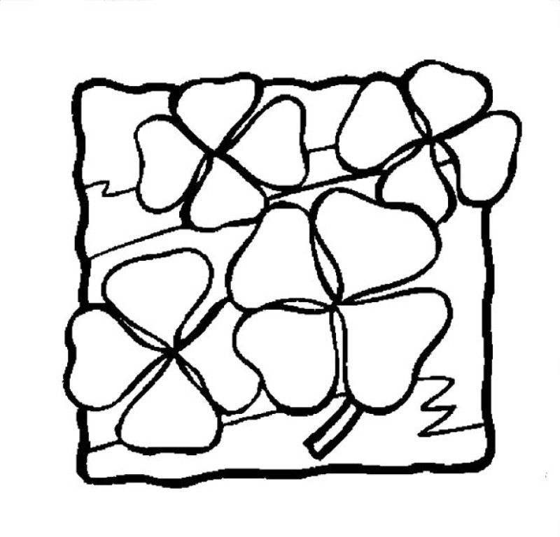 Four Leaf Clover Is Small And Attractive Coloring Pages - Kids