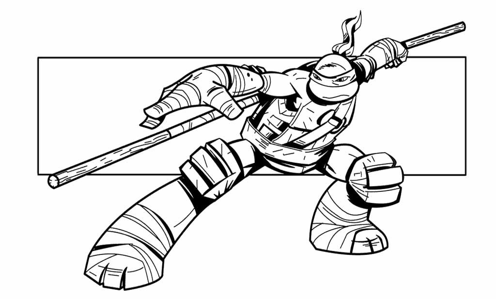 Ninja Turtle Coloring Page Coloring Home