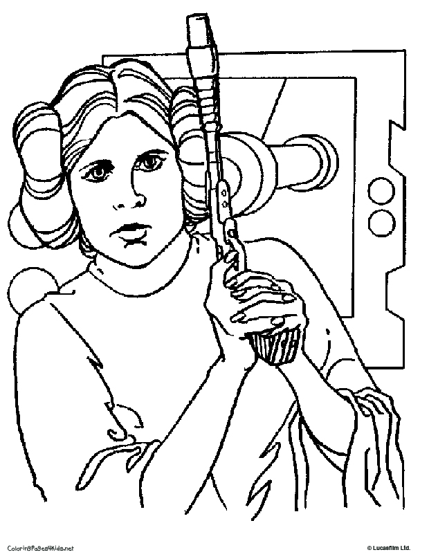star wars leia coloring pages - photo#15