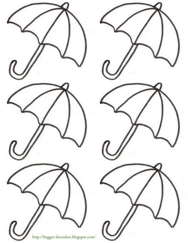 on Coloring Page Of An Umbrella With Raindrops