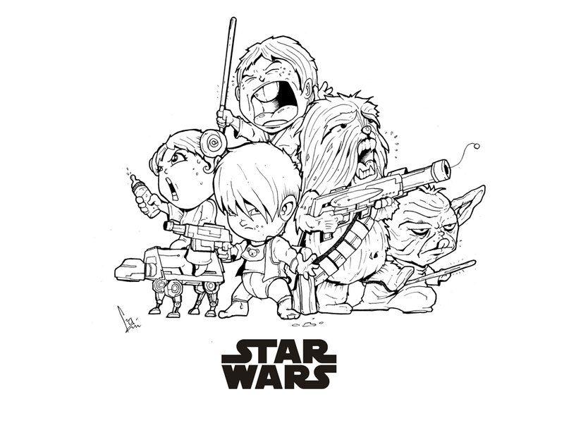 Star Wars Line Drawing Star Wars Fan Art by