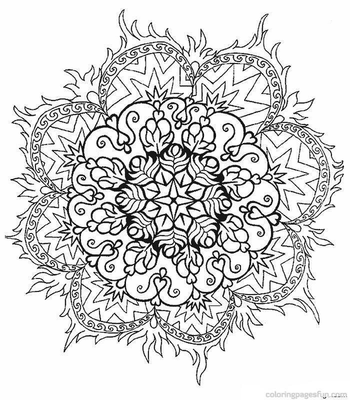Geometric Coloring Pages Advanced : Mandala coloring pages coloringmates