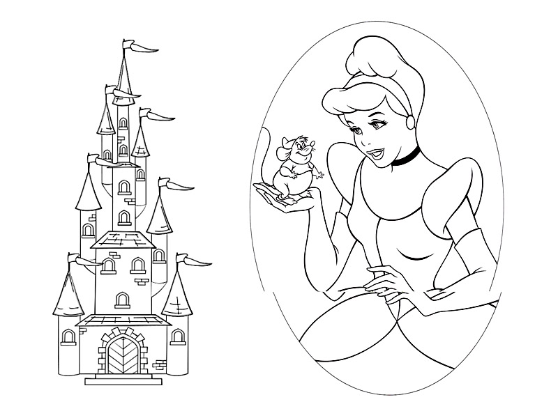 Cinderella Coloring Pages Princess Cinderella Coloring Page
