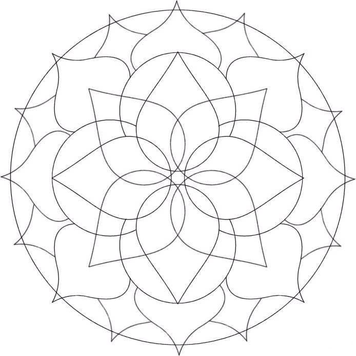 Free Coloring Pages Of Simple Mandala S Simple Mandala Coloring Pages