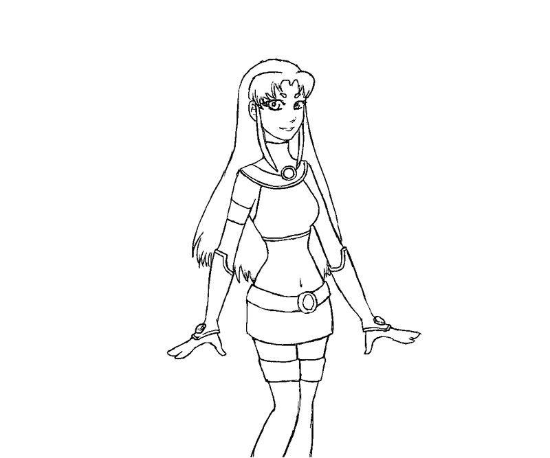 starfire coloring pages online - photo#12