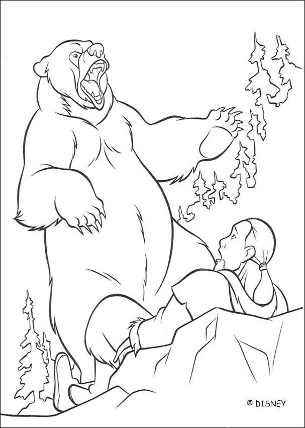 Brother Bear coloring book pages - Brother Bear 16