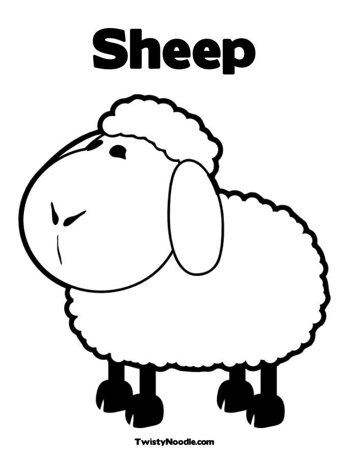 Sheep Coloring Page For Kids - Kids Colouring Pages