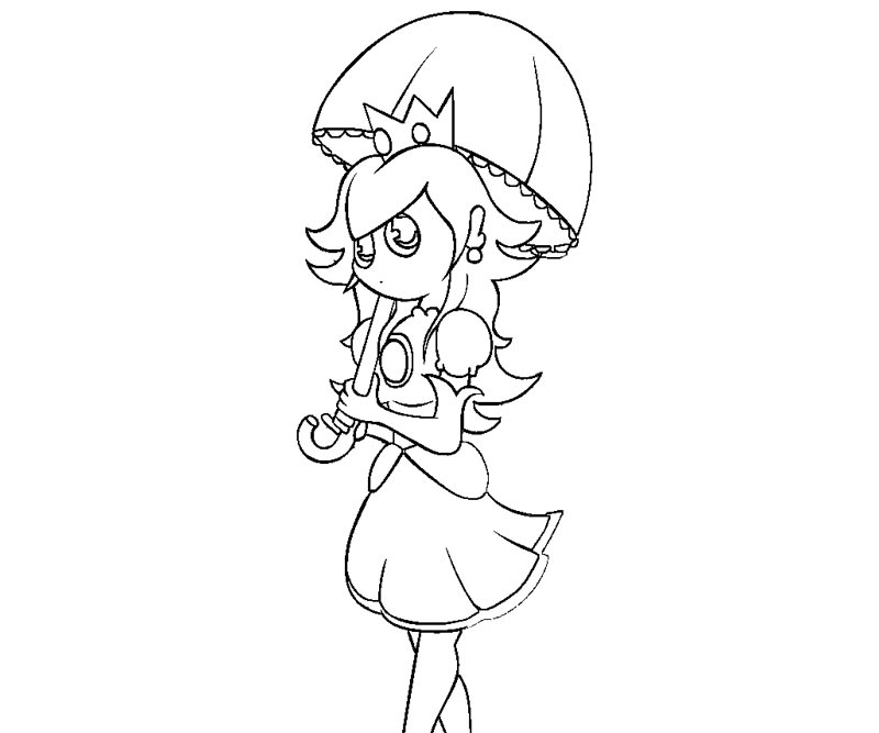 Super Mario Peach Coloring Pages - Coloring Home