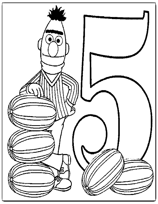 Sesame street coloring pages az coloring pages for Sesame street number coloring pages