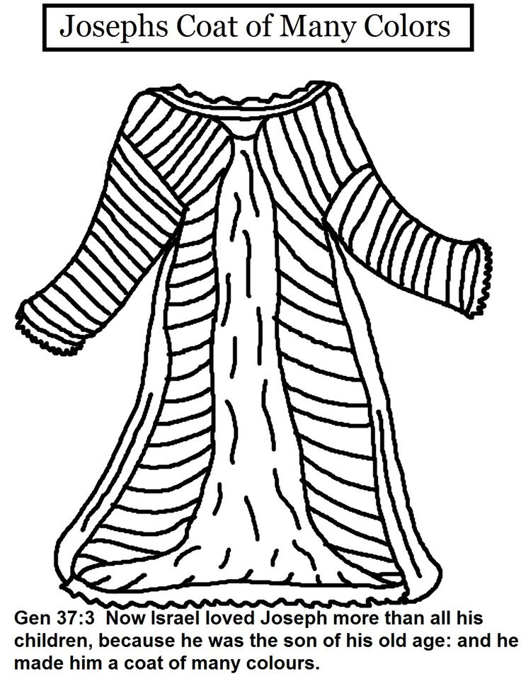 joseph and his coat of many colors coloring page az coloring pages Vest Coloring  Coat Coloring