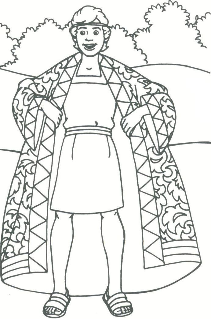 Joseph And The Coat Of Many Colors Coloring Page Coloring Page Coat Of Many Colors