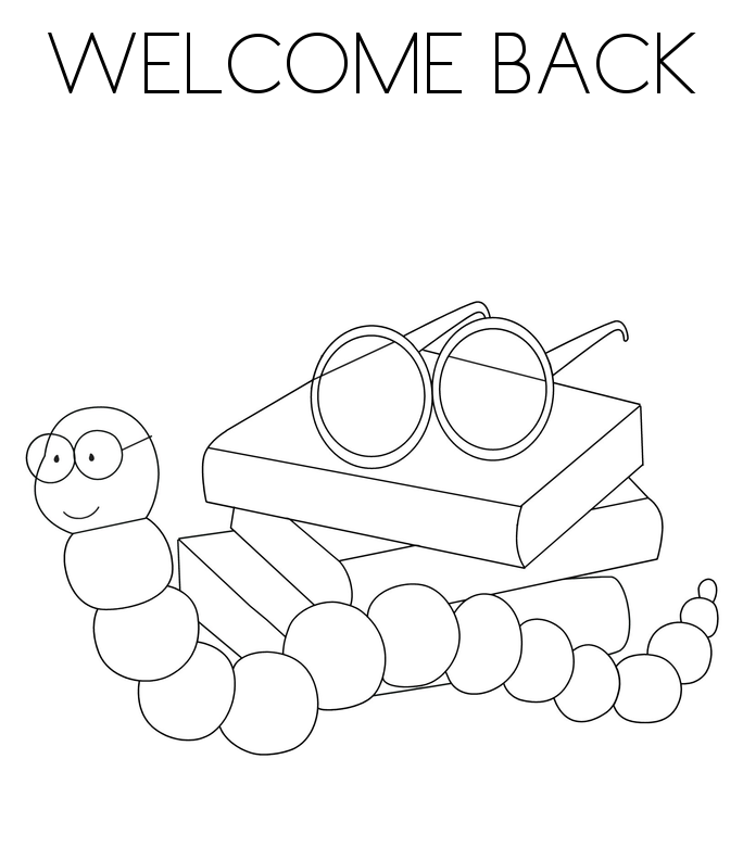 Welcome back to school coloring pages coloring home for Welcome home coloring page