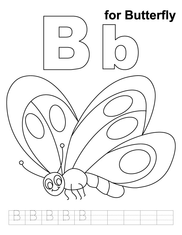 coloring pages letter b - photo#18
