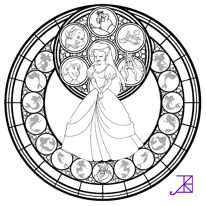 online stained glass coloring pages - photo#24