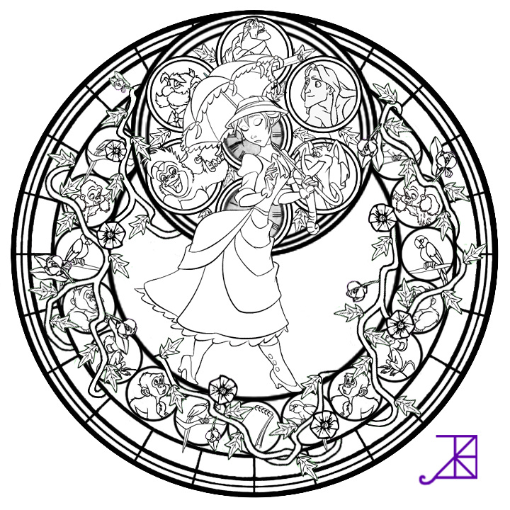 Disney Coloring Pages Glass