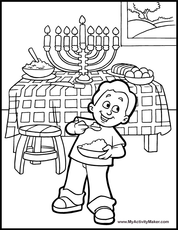 hanukkah coloring pages for kids az coloring pages