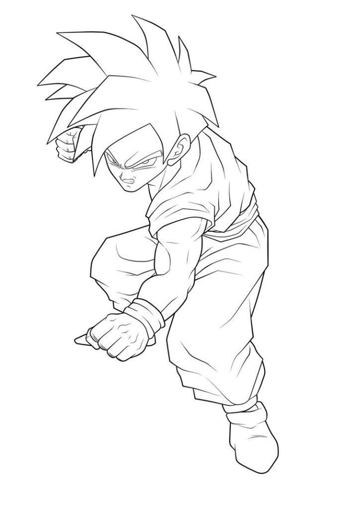 Printable Dragon Ball Gohan Kid Saiyan Armor Coloring ...
