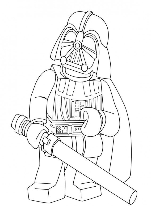 download darth vader holding a sword coloring page or print darth - Lego Green Lantern Coloring Pages