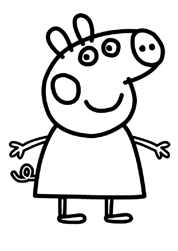 Online Colouring Pages Peppa Pig : Peppa pig pictures az coloring pages