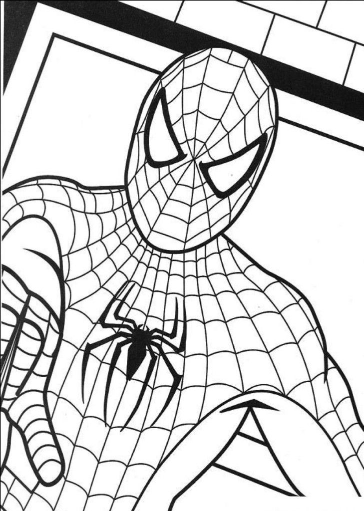Easy Coloring Pages Spiderman Inspiring | ViolasGallery.