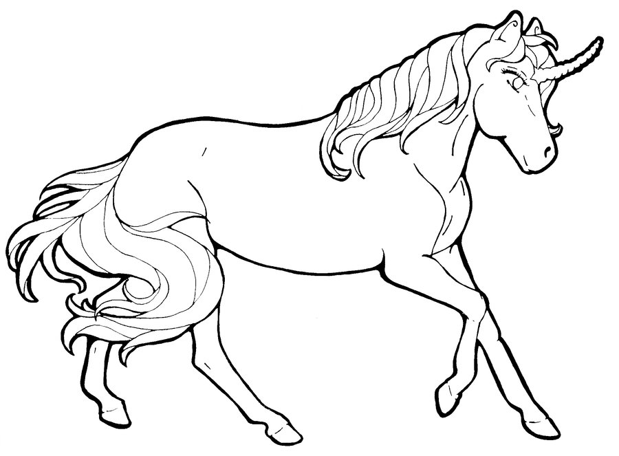 Line Art Unicorn : Unicorn line drawing az coloring pages