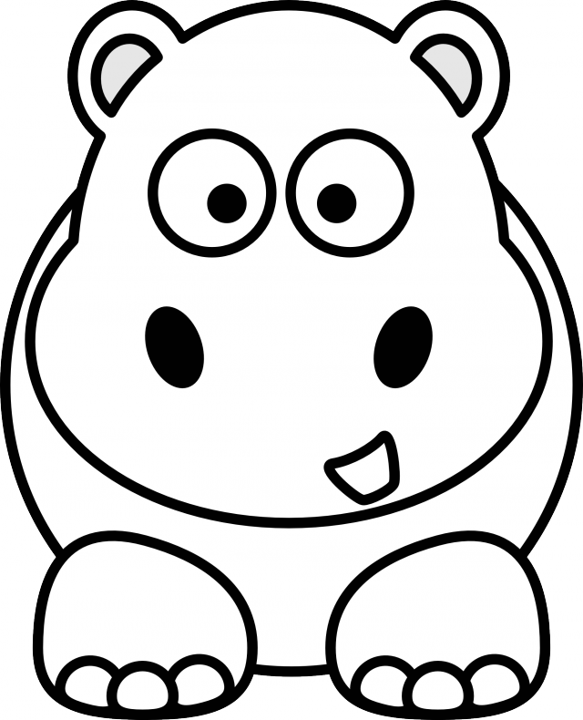 Cartoon Hippo Coloring PagesHippoPrintable Coloring Pages Free