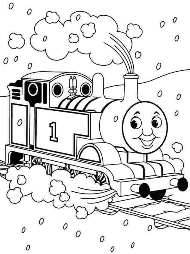Simple Thomas Tank Engine Colouring Pages - Coloring Home