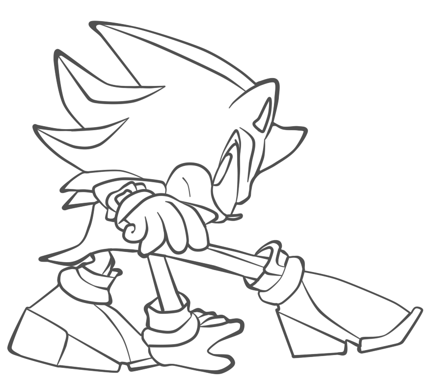 Baby Shadow The Hedgehog Coloring Pages Coloring Pages