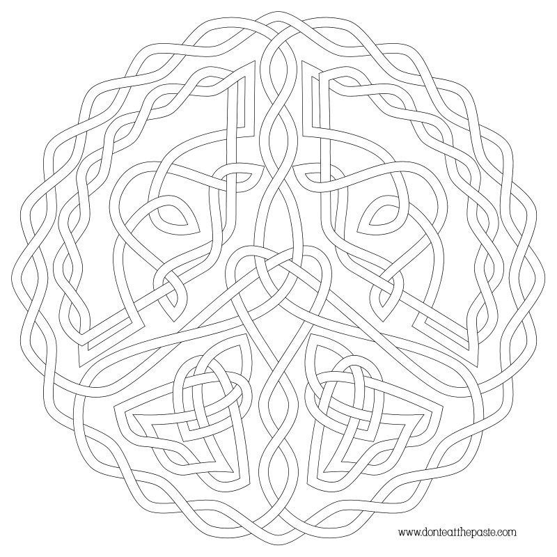 Free Celtic Knot Coloring Pages Celtic Knot Coloring Pages